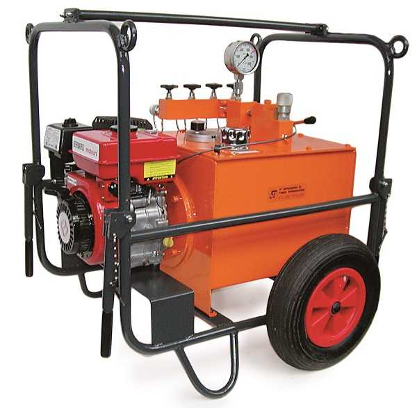 Hydraulic system dual speed combustion engine THB.51