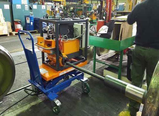 axle bearings alignment hydraulic tool