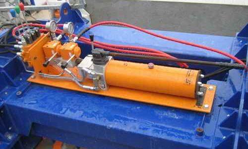 hydraulic cylinder, hand pump