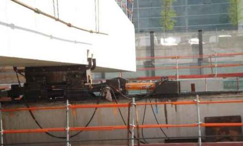 hydraulic unit lifting and shifting