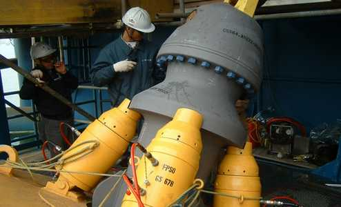 tensioning hydraulic cylinder offshore