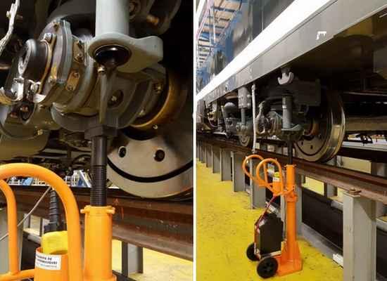 colonne levage ferroviaire, vérin hydraulique levage secteur ferroviaire