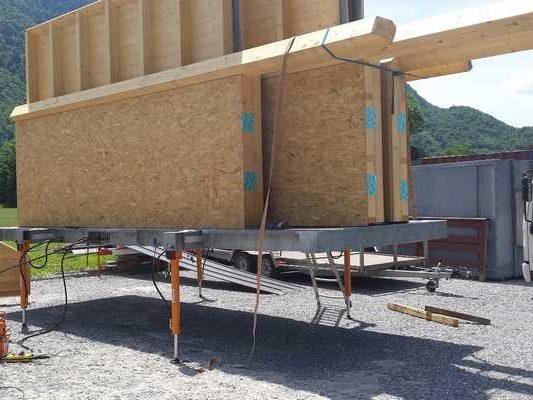 chassis composé de vérins hydrauliques