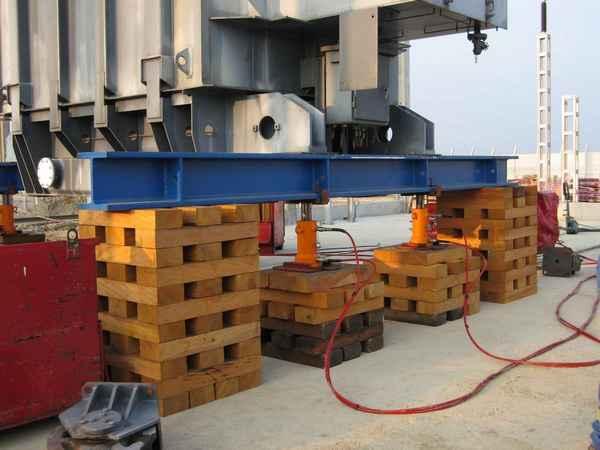 matériels hydrauliques de levage synchronisé