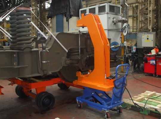 Presse mobile hydraulique, presse secteur ferroviaire