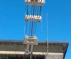 système hydraulique reprise de tension, vérins hydrauliques