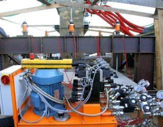 vérins creux, centrales hydrauliques