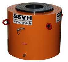 fabricant vérin hydraulique double-effet, piston creux, vérin sur mesure, vérin hydraulique géotechnique